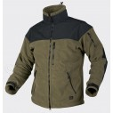 Helikon Classic Army Fleece Jacket Windblocker Olive - Black
